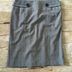 Alfani womens Gray plaid pencil skirt 8